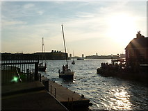 TQ3680 : Entrance to Limehouse Basin by Richard Durley