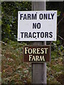 TM4054 : Forest Farm sign by Adrian Cable