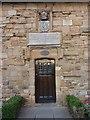 NZ2742 : Doorway of building on Palace Green, Durham by Alexander P Kapp