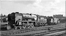 TQ2775 : Locomotives in Clapham Junction carriage yard by Ben Brooksbank