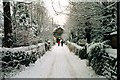 SK2281 : Winter scene in Hathersage (2000) by Graham Hogg