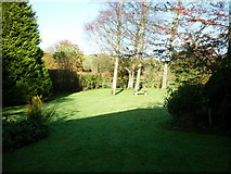 SD4983 : The garden at the Blue Bell Hotel, Heversham by Ian S