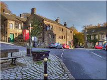 SD9906 : The Swan, Dobcross Square by David Dixon