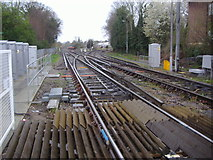 TQ1572 : Railway line south of Strawberry Hill station by David Howard