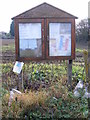 TM1376 : Brome Village Notice Board by Adrian Cable