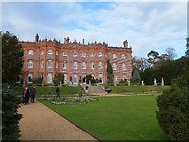 SU8695 : The south front and formal garden of Hughenden Manor by David Smith