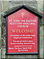 NO1123 : Nameboard - St John the Baptist Church, Perth by David Dixon