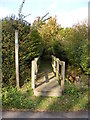 TM4282 : Footbridge of the footpath to Station Road by Adrian Cable