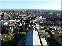 TF3244 : View from St Botolph's - Nave and eastwards by Rob Farrow