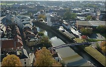 TF3244 : View from St Botolph's - River Witham in the town by Rob Farrow