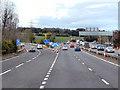 NT1283 : Northbound M90, Junction 2 by David Dixon