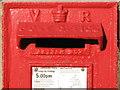 NZ2264 : Victorian postbox, Wellfield Road / Hampstead Road, NE4 - aperture by Mike Quinn