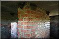 NU0131 : Inside a pillbox on Horton Moor by Walter Baxter