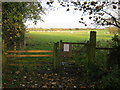 NZ2220 : Gate to bridleway off Houghton Lane by peter robinson