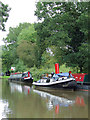 SJ5778 : Narrowboats by Dutton Stop Lock, Cheshire by Roger  Kidd