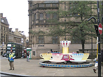 SK3587 : Teacup ride by Sheffield Town Hall  by Robin Stott
