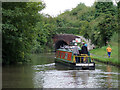 SJ5679 : Narrowboat approaching Preston Brook Tunnel, Cheshire by Roger  Kidd