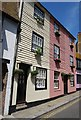 TQ8209 : Colourful cottages, All Saints St by N Chadwick