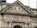 SJ8990 : Savings Bank frieze by Gerald England