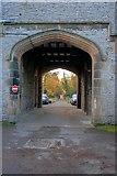 SK1971 : Entrance Arch, Thornbridge Outdoor Centre by Mick Garratt
