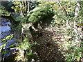 SE0025 : Penstocks at a weir on Cragg Brook, Mytholomroyd by Humphrey Bolton
