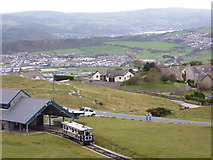SH7783 : The Halfway tram stop, Great Orme, Llandudno by Ruth Sharville