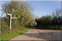 SW6132 : Road junction near Gwedna by Ian Capper