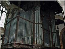 SK7953 : Organ in St Mary Magdalene church, Newark by J.Hannan-Briggs