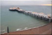 TQ3103 : Brighton Beach and Pier from above by Christine Matthews