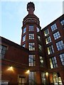 SJ9398 : Cavendish Mill, Cavendish Street, Ashton-Under-Lyne, Chimney by Alexander P Kapp