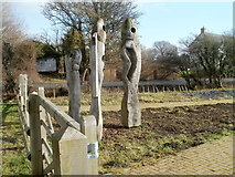 ST4286 : The Fish sculpture, Magor Marsh Nature Reserve by Jaggery