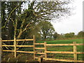 SJ6166 : New fence and stile at Brook Farm by Dr Duncan Pepper