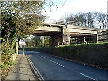 SD4760 : Railway bridge over road and canal by Graham Hogg
