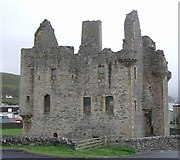 HU4039 : Scalloway Castle - from the North by Rob Farrow