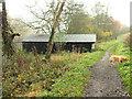ST9331 : Boathouse on the lake by Jonathan Kington