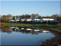 NT6578 : Coastal East Lothian : Belhaven Caravan Park at Seafield Pond, Belhaven by Richard West