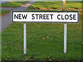 TM2273 : New Street Close sign by Adrian Cable