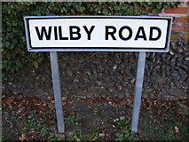 TM2373 : Wilby Road sign by Adrian Cable