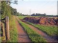 SK3955 : Dung heap near Alfreton Park by Trevor Rickard