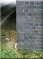 SK6132 : Bench mark on Bradmore Lane bridge by Alan Murray-Rust