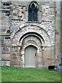 SK6133 : West door, St Mary, Plumtree by Alan Murray-Rust