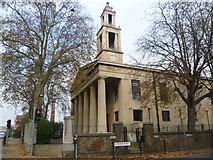 TQ3377 : St George's Church, Wells Way by Marathon