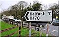 J4377 : Direction sign, Craigantlet by Albert Bridge