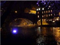 NZ2742 : Framwellgate Bridge, Durham Lumiere 2011 by Oliver Dixon