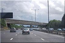 TQ0481 : Iver Lane Bridge, M25 by N Chadwick