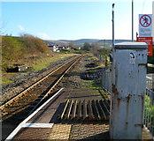 SS8591 : Eastern end of Maesteg railway station by Jaggery