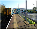 SS8591 : 11:15 departure for Cheltenham Spa waits in Maesteg railway station by Jaggery