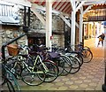SP5106 : Bicycle stand in the Covered Market by Fly