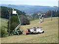 NY8162 : Installing a new electricity transmission line. by Oliver Dixon