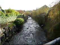 SS8591 : River Llynfi flows away from Church Street, Maesteg by Jaggery